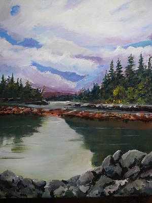 Sitka Painting - Alaskan Cove by Russ Harriger