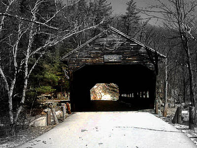 Landscape Photograph - Albany Covered Bridge  by Marie Jamieson