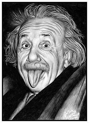 Einstein Drawing - Albert Einstein Portrait by Colleen Trillow