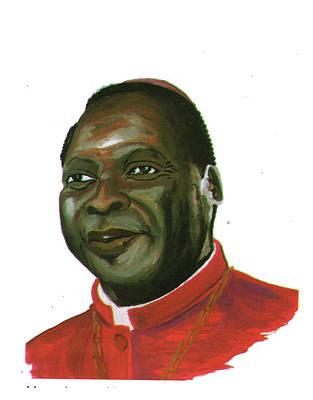 Albert Ndongmo Print by Emmanuel Baliyanga