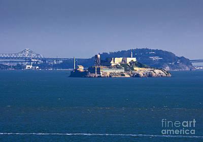 Alcatraz Photograph - Alcatraz Island In San Francisco Bay by David Buffington