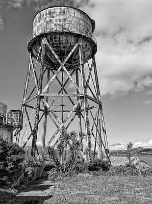Alcatraz Photograph - Alcatraz Penitentiary Water Tower by Daniel Hagerman