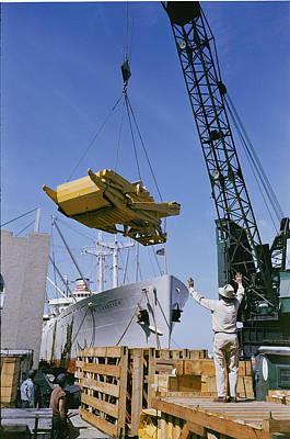 Cranes And Derricks Etc Photograph - Alcoa Ship Destines For South America by Justin Locke