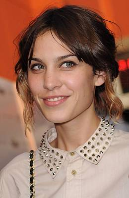 Alexa Chung At Arrivals For Inglourious Print by Everett