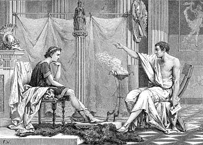 Alexander Of Macedon And Aristotle Print by