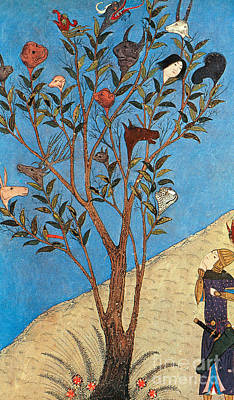 Alexander The Great At The Oracular Tree Print by Photo Researchers