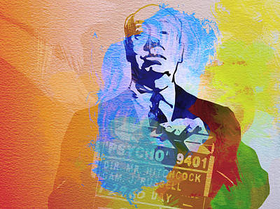 Movie Art Painting - Alfred Hitchcock by Naxart Studio
