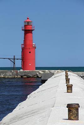 Algoma Lighthouse Pier Print by Mark J Seefeldt