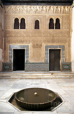 Alhambra Inner Courtyard Print by Jane Rix