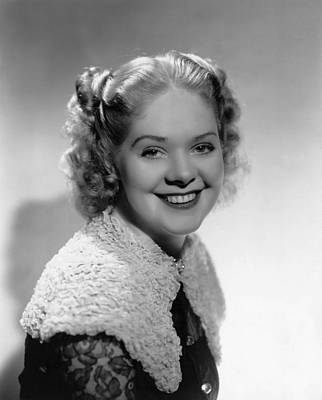 Capelet Photograph - Alice Faye, 1937 by Everett