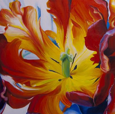 Spring Bulbs Painting - Alive by Karen Hurst