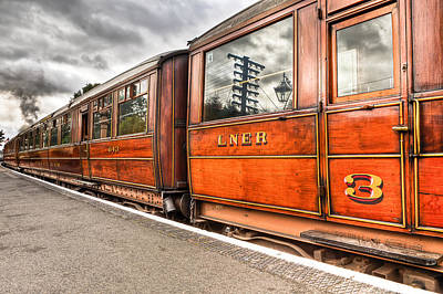 Wooden Platform Photograph - All Aboard by Adrian Evans