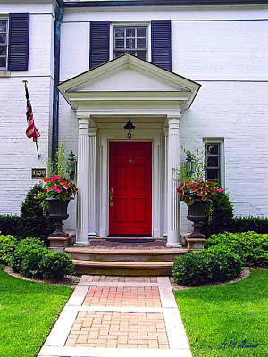 All American Doorway Original by Michael Durst