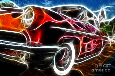 All American Hot Rod Print by Paul Ward