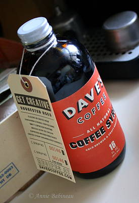 All Natural Coffee Syrup Print by Anne Babineau