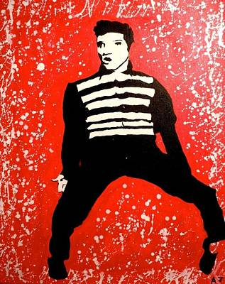 Elvis Painting - All Shook Up by Austin James
