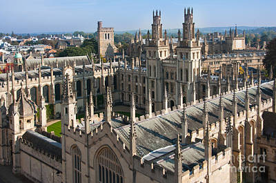 Oxford Photograph - All Souls College by Andrew  Michael