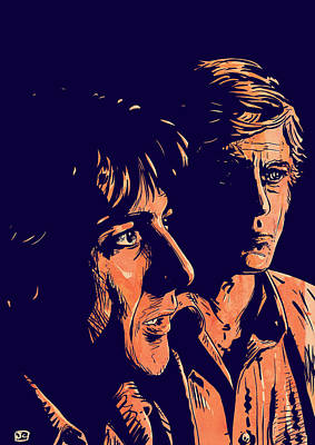 Dustin Hoffman Drawing - All The President's Men by Giuseppe Cristiano
