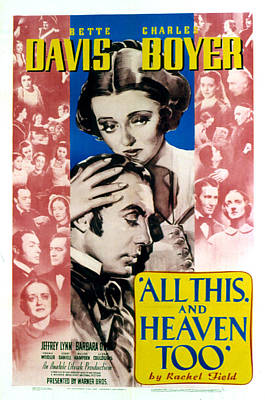 All This And Heaven Too, Bette Davis Print by Everett