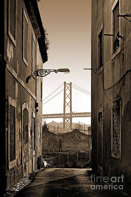 Alley And Bridge Print by Carlos Caetano