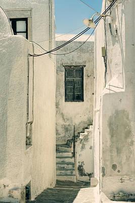 alley in Greece Print by Joana Kruse