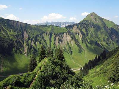 Y120831 Photograph - Allgäu Alps Near Oberstdorf, Bavaria by Hans-Peter Merten