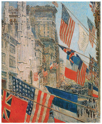Patriotism Painting - Allies Day by Frederick Childe Hassam