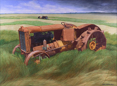 Allis Chalmers Tractor Print by Glen Heberling