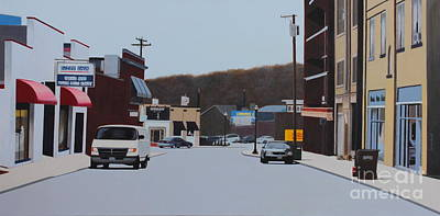 Allston And Madison Print by Dan Lockaby