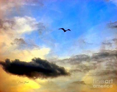 Dale Ford Digital Art - Alone In A Big Sky by Dale   Ford