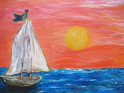 Alone In Color Original by Lori Carson