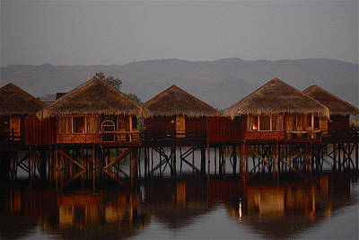 Alone On Inle Lake Original by Louise Bleakly