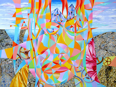 Passing Thought Painting - Along Came A Time by Cosimo Mannu