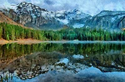 Alta Lakes Reflection Print by Jeff Kolker