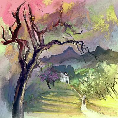 Altea Painting - Altea La Vieja In Spain 10 by Miki De Goodaboom