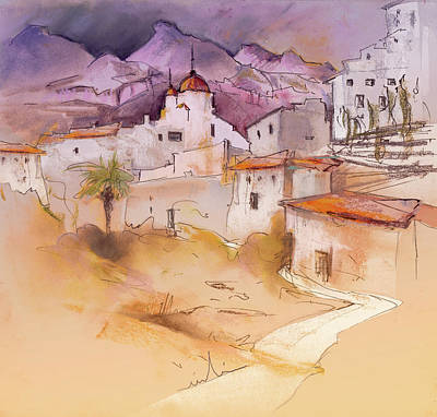 Art Miki Painting - Altea La Vieja In Spain 11 by Miki De Goodaboom