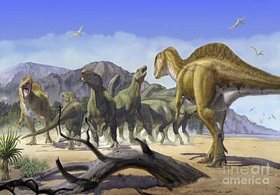 Altispinax Dunkeri Dinosaurs Attack Print by Sergey Krasovskiy