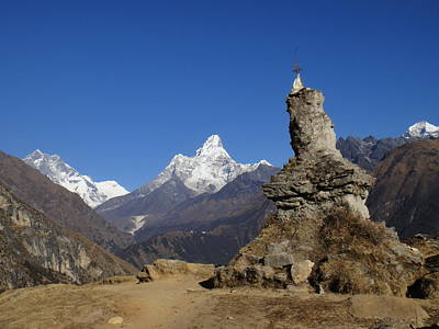Himalayas Photograph - Amadablam Bliss by Nika One