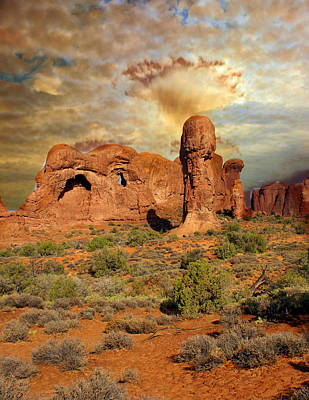 Amber Arches Print by Marty Koch