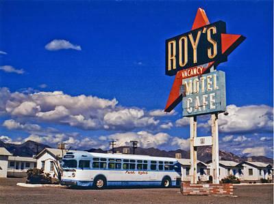 Signage Photograph - Amboy Bus Close-up by Matthew Bamberg