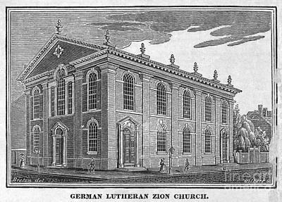 Zion Lutheran Church Photograph - America: Lutheran Church by Granger