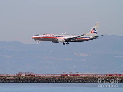 American Airlines Jet Airplane At San Francisco International Airport Sfo . 7d12212 Print by Wingsdomain Art and Photography