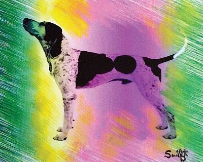 Coonhound Painting - American English Coonhound by Char Swift