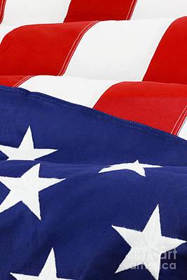 American Flag Print by Stephanie Frey