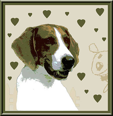 American Fox Hound Print by One Rude Dawg Orcutt