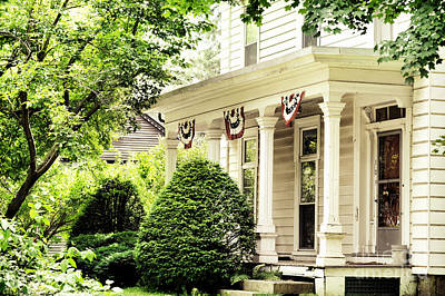 Deerfield Photograph - American Home by HD Connelly