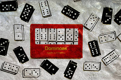 Enjoyment Mixed Media - American Passtime Dominoes by Angelina Vick