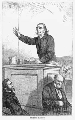 Sermon Photograph - American Preacher by Granger