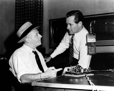 American Radio Commentators Walter Print by Everett