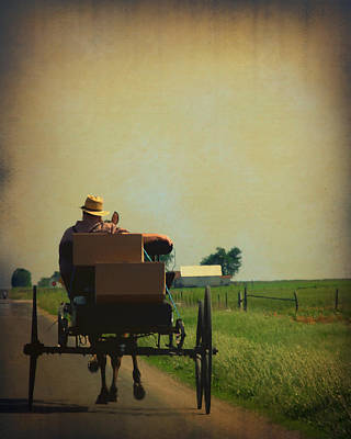 Mission Ventures Photograph - Amish Life by Terry Eve Tanner
